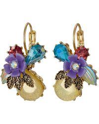 Betsey Johnson | Spring Ahead Flower Drop Earrings | Lyst