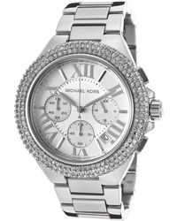 Michael Kors Womens Chronograph Silver Dial Stainless Steel - Lyst