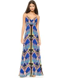 Mara Hoffman Crossover Slip Gown  Pyramid Night Navy - Lyst