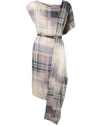 Vivienne Westwood Anglomania 'Alaska' Scarf Dress gray - Lyst