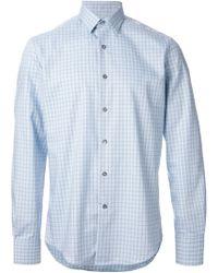 Lanvin Check Print Shirt - Lyst