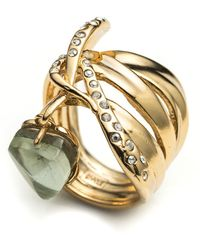 Alexis Bittar Kinetic Gold Charmed Ribbon Ring - Lyst