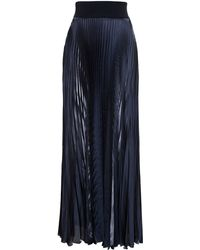 Galvan Pleated Maxi Skirt - Lyst