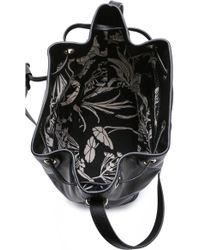 Karen Walker - Benah For Enid Drawstring Bucket Bag - Black - Lyst