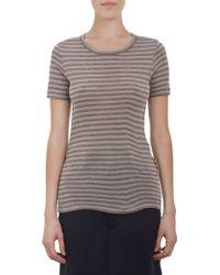 Yohji Yamamoto Striped Tshirt - Lyst