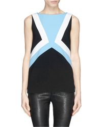 Emilio Pucci Geometric Panel Front Wool Crepe Top - Lyst