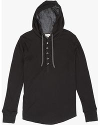 Beren Clothing | Dual Layered Henley Hood | Lyst