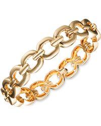 Nine West - Glitzy Links Crystal Stretch Bracelet - Lyst