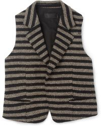 Haider Ackermann Striped Wool Waistcoat - Lyst