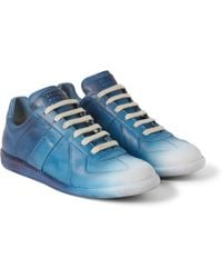 Maison Margiela Blue Replica Low-top Lace-up Sneaker - Lyst