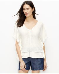 Ann Taylor Embroidered Caftan Top white - Lyst