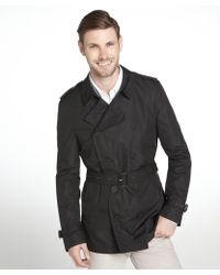 Burberry Brit Black 34length Kensington Trench - Lyst