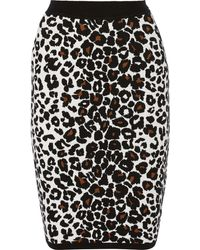 A.L.C. Ellwood Leopardprint Stretchknit Skirt - Lyst