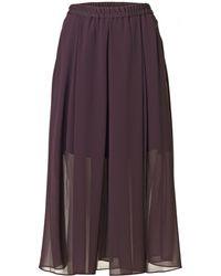 By Malene Birger Pantanius Skirt brown - Lyst