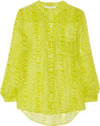 Diane von Furstenberg Gilmore Printed Silk-chiffon Shirt - Lyst