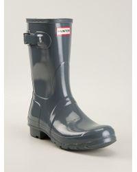 Hunter Original Short Gloss Wellington Boots - Lyst