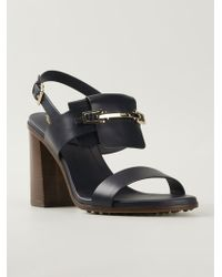 Tod's Chunky Heel Sandals - Lyst