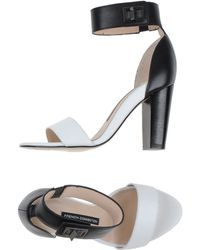 French Connection Sandals black - Lyst