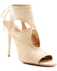 Aquazzura Sexy Thing Laceup Suede Sandals - Lyst