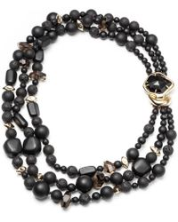 Alexis Bittar Gold Liquid Crystal Beaded Necklace - Lyst