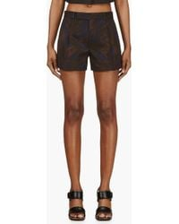 Marc Jacobs Navy and Ochre Printed Shorts - Lyst