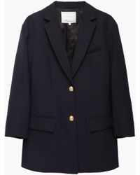 3.1 Phillip Lim | Cropped Sleeve Double Button Blazer | Lyst