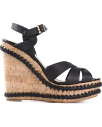Paloma Barceló Braided Wedge Sandals - Lyst