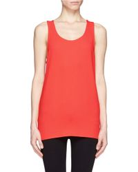 MSGM Crepe Sleeveless Top - Lyst