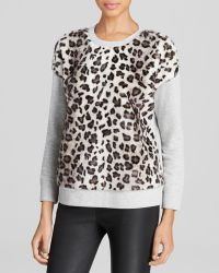 Kate Spade Faux Fur Front Pullover - Lyst