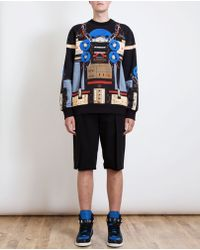 Givenchy Robot Printed Oversized Cotton Sweatshirt - Lyst