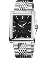 Gucci G Timeless Collection Stainless Steel Rectangle Watch - Lyst