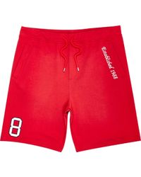 River Island Red Best In Field 1988 Shorts red - Lyst