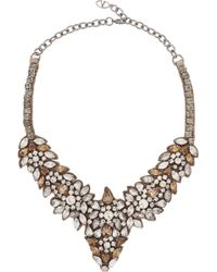 Valentino Glam Flowers Silver-Tone Crystal Necklace - Lyst