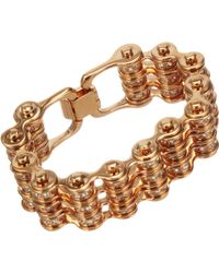 Mawi - Crystal Triple Link Bike Chain Bracelet - Lyst
