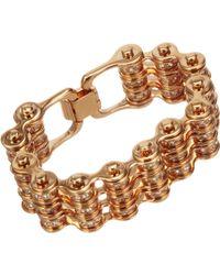 Mawi | Crystal Triple Link Bike Chain Bracelet | Lyst