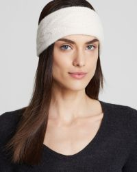 C By Bloomingdale's - Cashmere Cable Knit Headband - Lyst