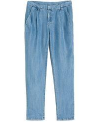 Mango Tencel Flowy Trousers - Lyst