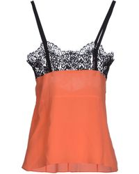 Celine Top orange - Lyst