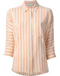 By Malene Birger Striped Shirt - Lyst