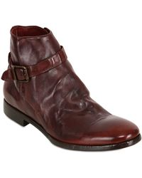 Rolando Sturlini - Washed Leather Ankle Boots - Lyst