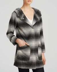 Sanctuary - Ombre Stripe Hooded Coat - Lyst