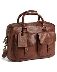 Polo Ralph Lauren Leather Commuter Bag - Lyst