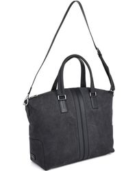 Tod's Suede and Leather Weekend Bag - Lyst