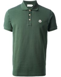 Moncler Short Sleeve Polo Shirt - Lyst