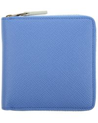 Smythson Panama Zipped Wallet - Lyst