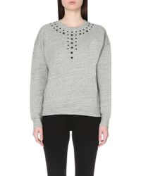 5cm - Star-embellished Cotton-jersey Sweatshirt - Lyst
