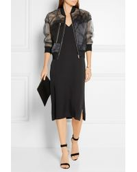 3.1 Phillip Lim - Satin And Lace-paneled Tulle Bomber Jacket - Lyst