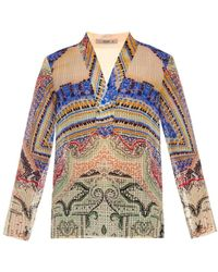 Etro Paisley Print Cotton Tunic multicolor - Lyst