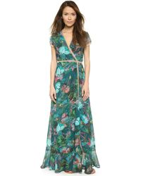 Twelfth Street Cynthia Vincent Wrap Maxi Dress - Tropical Floral multicolor - Lyst
