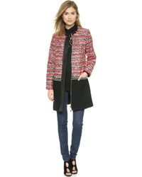 Milly Couture Tweed Coat  Multi - Lyst